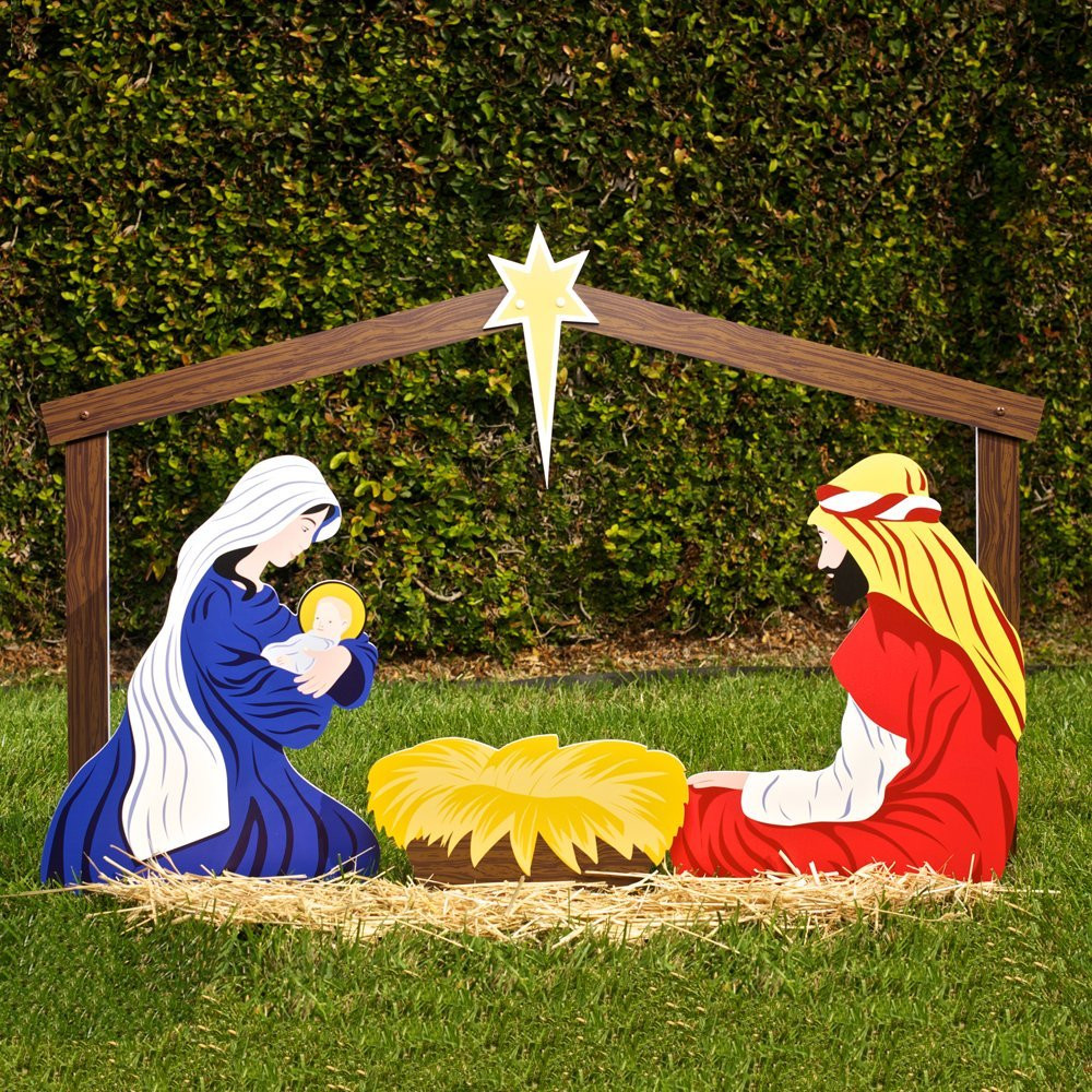 Outdoor Christmas Decorations On Sale  Outdoor Christmas Ornaments Nativity Yard Decorations