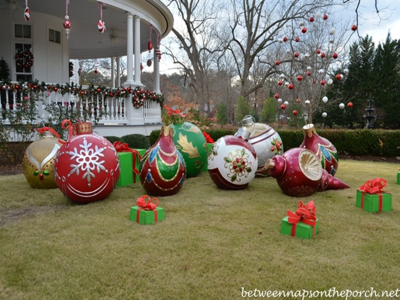 Outdoor Christmas Decorations On Sale  diy outdoor christmas decorations big christmas ornaments