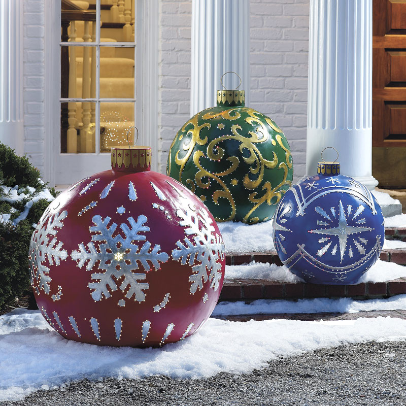 Outdoor Christmas Decorations Sale  Massive Outdoor Lighted Christmas Ornaments The Green Head