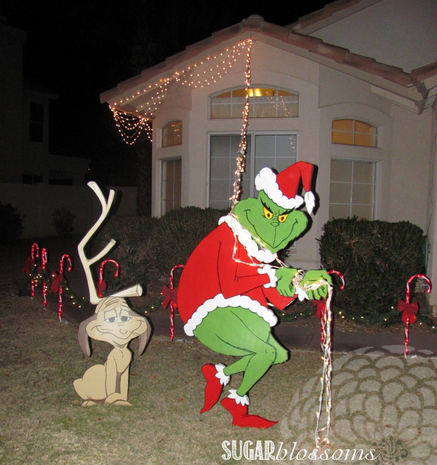 Outdoor Christmas Decorations Sale  Find out more about Grinch Stealing Lights Decoration For