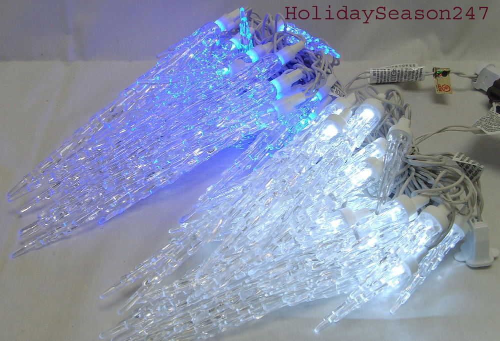 Outdoor Christmas Icicle Lights  25 TWINKLING ICICLE CHRISTMAS LED LIGHT STRING HOLIDAY