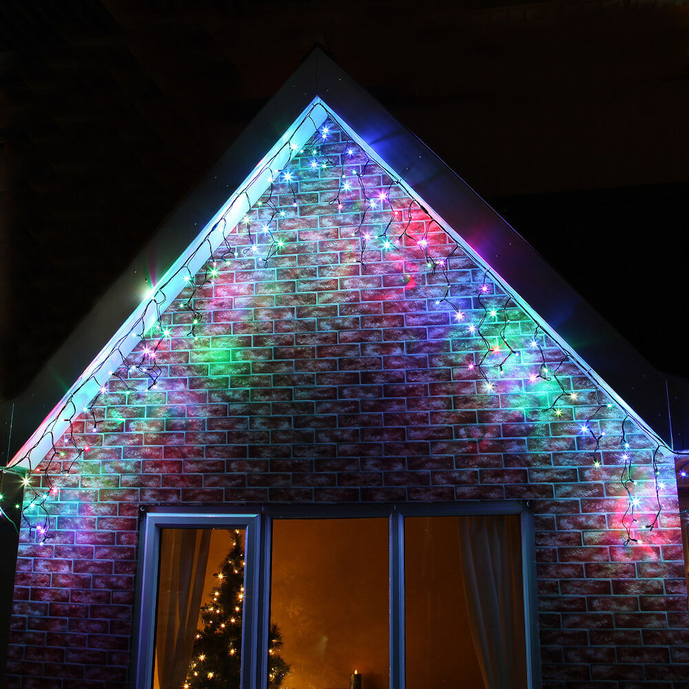 Outdoor Christmas Icicle Lights  INDOOR OUTDOOR PLUG CONNECTABLE CHRISTMAS PARTY ICICLE