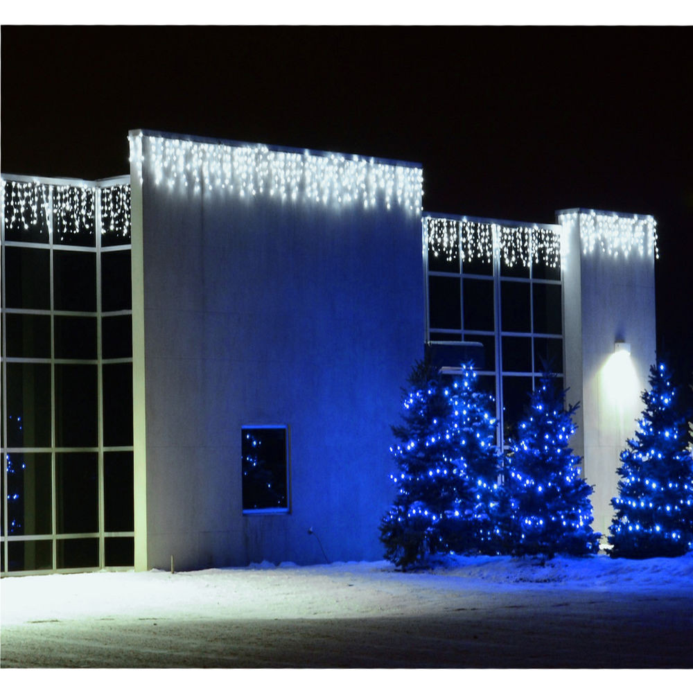 Outdoor Christmas Icicle Lights  ABI 10 Foot LED Icicle String Lights Indoor Outdoor