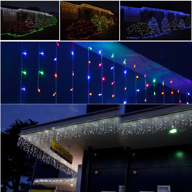 Outdoor Christmas Icicle Lights  Hanging Icicle Light Outdoor Indoor Christmas Birthday