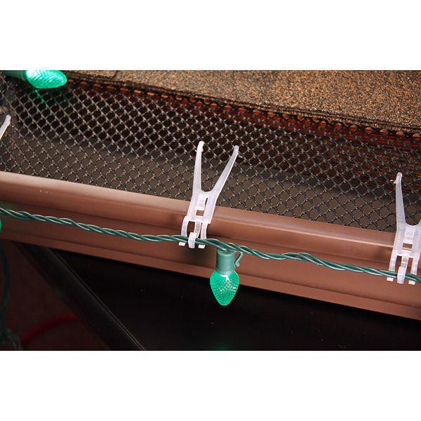 Outdoor Christmas Light Hooks  Leaf Screen Clips Christmas Light Clips