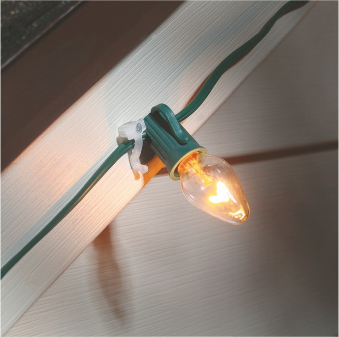 Outdoor Christmas Light Hooks  Nail on clips for christmas lights Suction Cups Direct