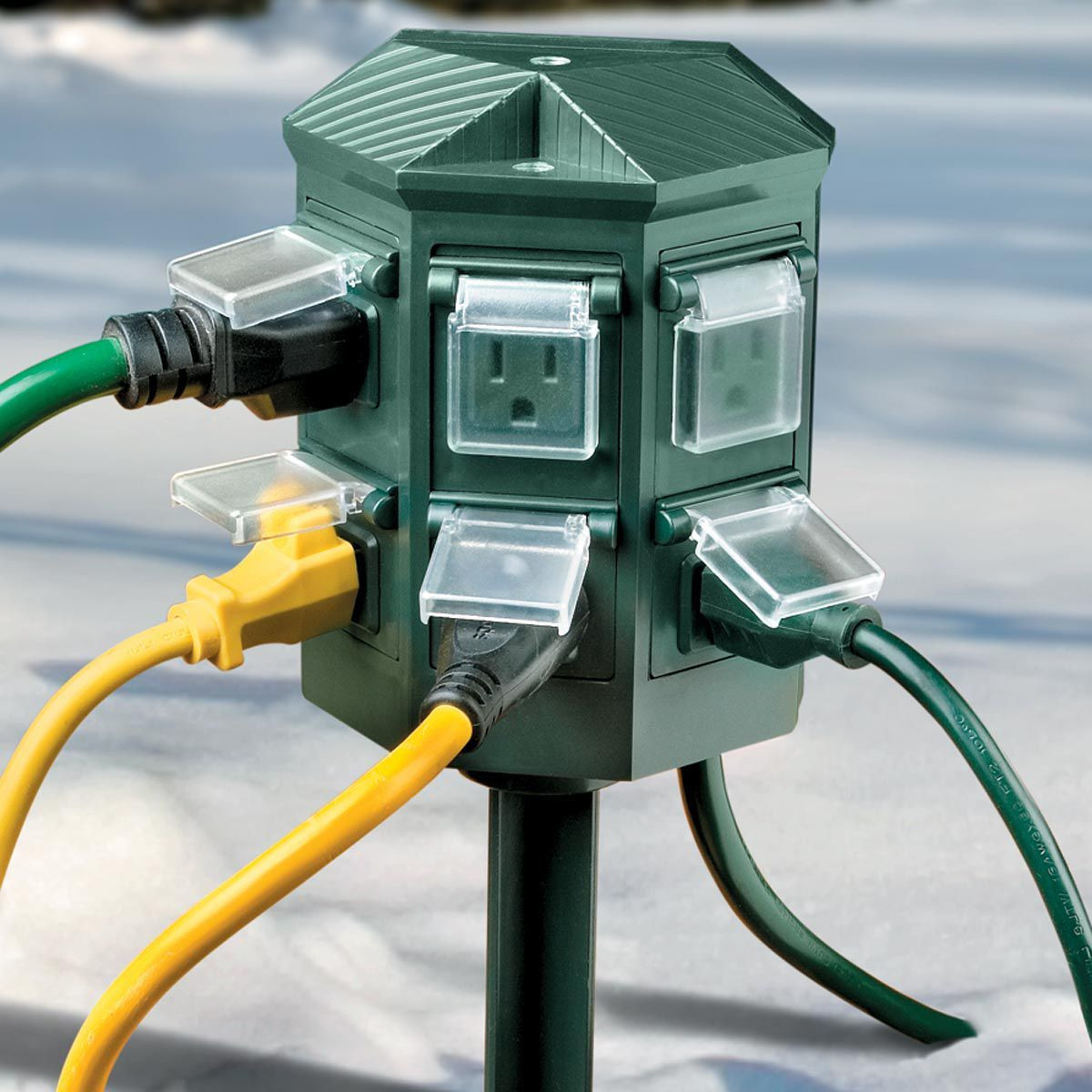 Outdoor Christmas Lights Timers  Weatherproof Outdoor Timer Power Strip