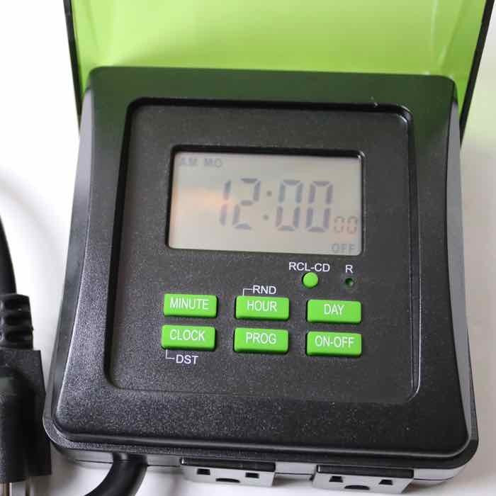 Outdoor Christmas Lights Timers  Digitally Programmable Outdoor Christmas Lights Timer