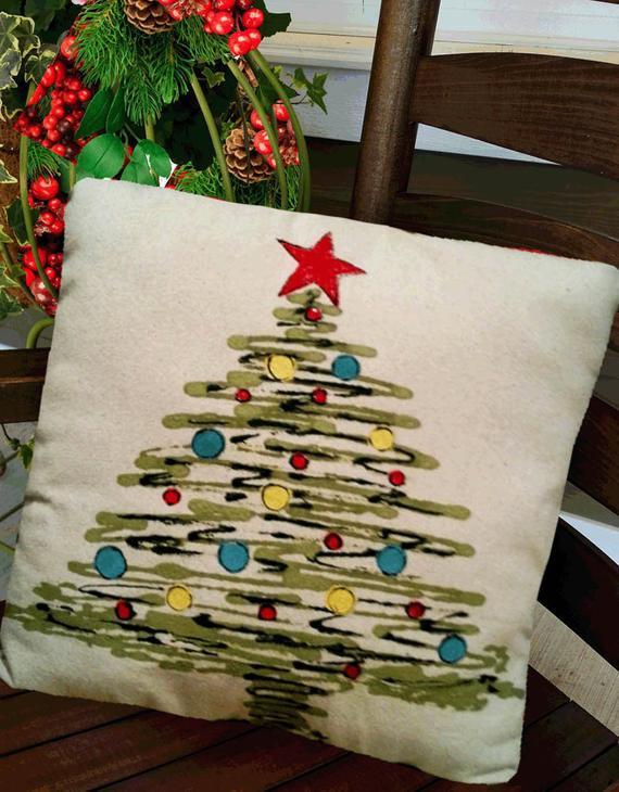 Outdoor Christmas Pillows  Christmas Tree Pillows Accent Pillows Indoor Outdoor