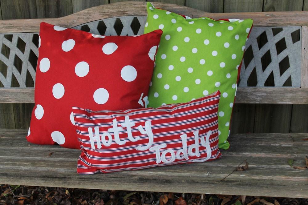 Outdoor Christmas Pillows  Christmas Decor Outdoor Pillows Personalization
