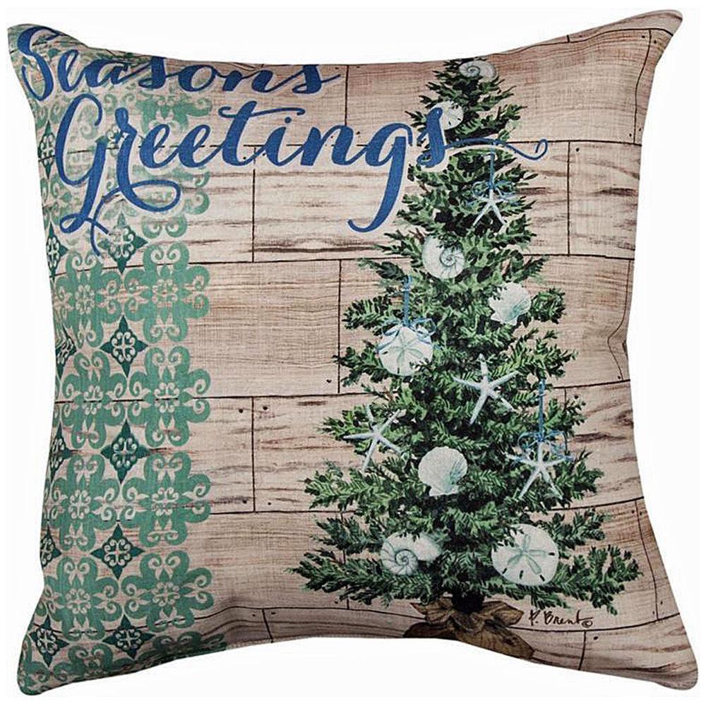 Outdoor Christmas Pillows  DECORATIVE PILLOWS NAUTICAL CHRISTMAS TREE PILLOW 18