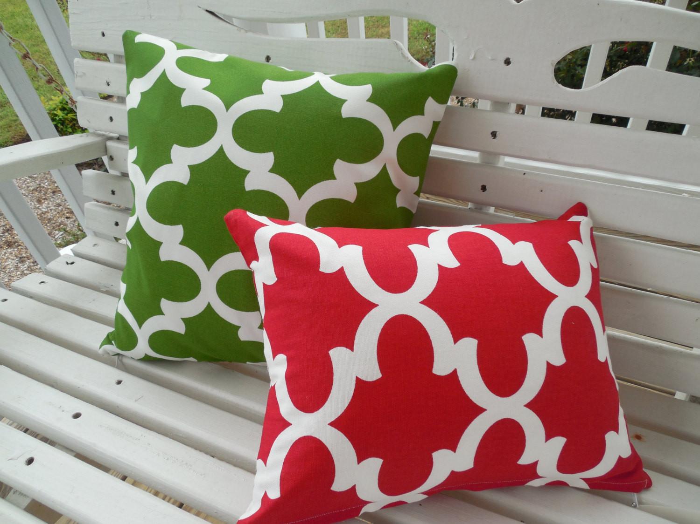 Outdoor Christmas Pillows  Christmas Outdoor Pillow Cover Holiday Patio Porch Decorative