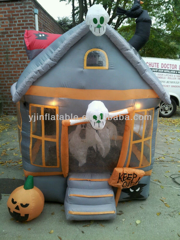 Outdoor Halloween Decorations On Sale  lowes yard decor lowes halloween inflatable haunted house