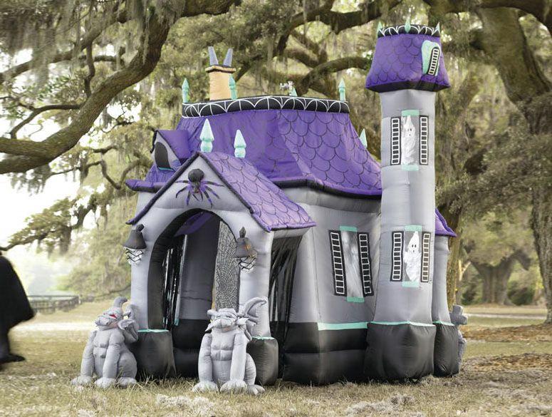 Outdoor Halloween Decorations On Sale  Inflatable Halloween Haunted House