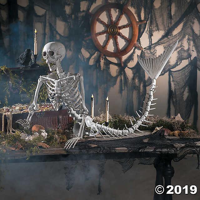 Outdoor Halloween Decorations On Sale  Mermaid Life Size Skeleton Halloween Decoration