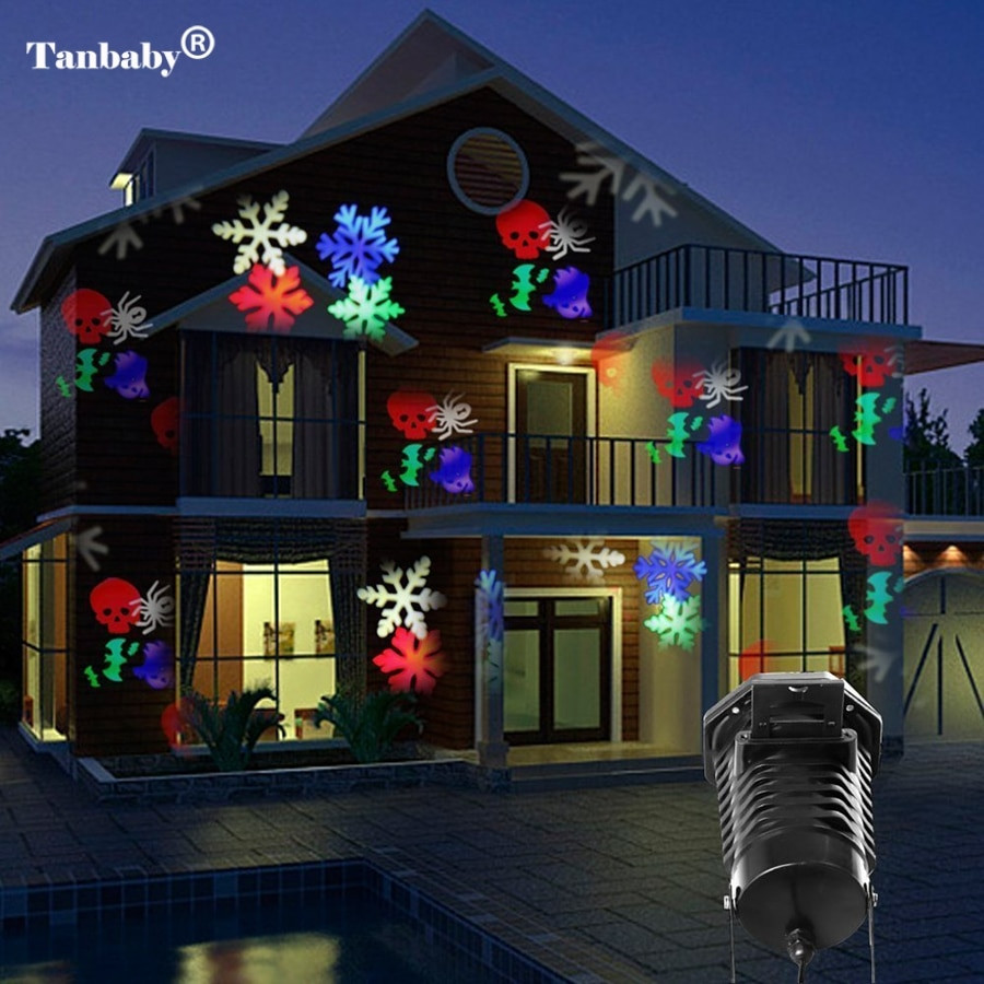 Outdoor Halloween Projector  Tanbaby Christmas Laser Projector Lights 10 Replaceable