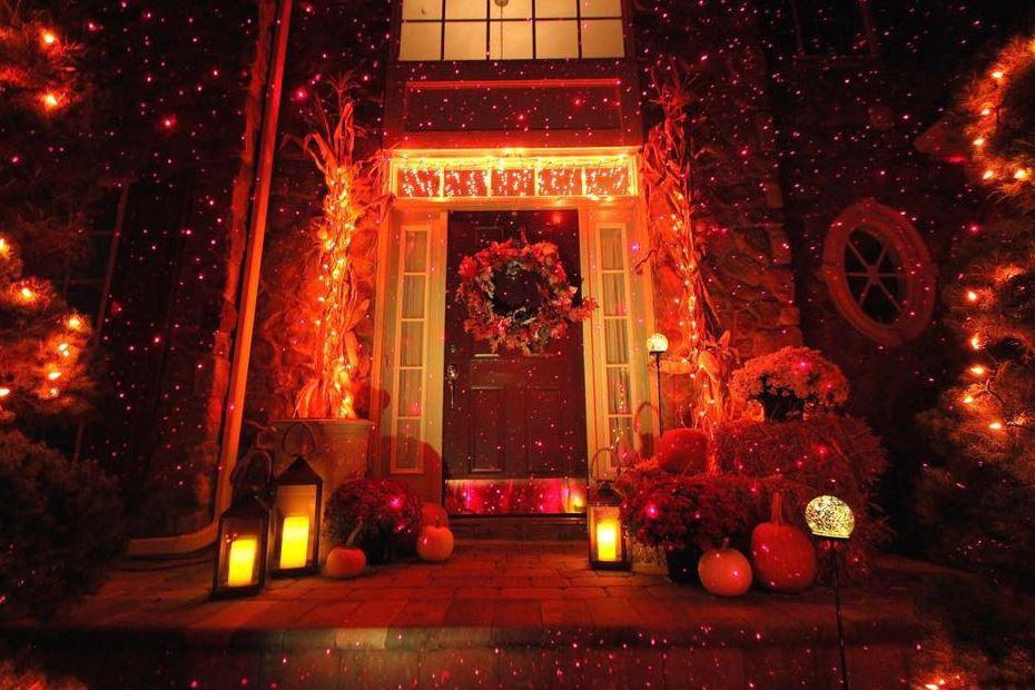 Outdoor Halloween Projector  DIY Halloween Idea's