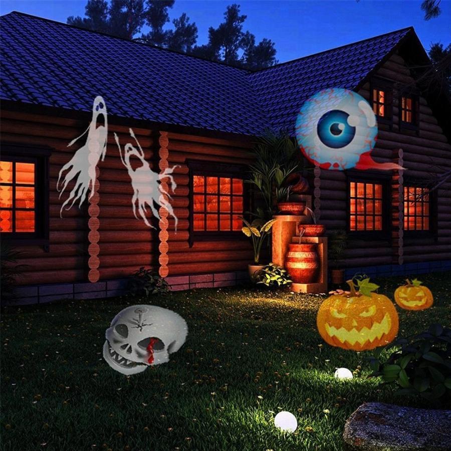 Outdoor Halloween Projector  1X 12 Patterns Outdoor Projector Light For Halloween