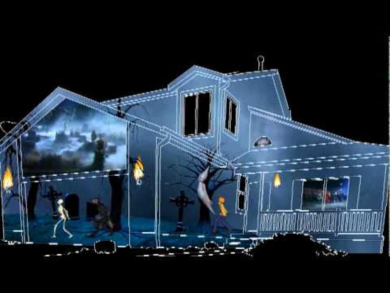 Outdoor Halloween Projector  Outdoor christmas lights for houses halloween garage door