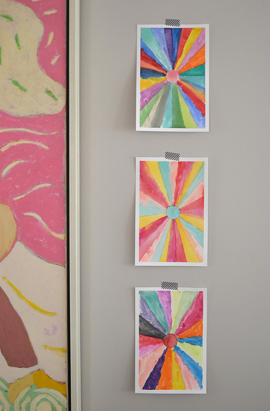 Painting Crafts For Adults  DIY Sunburst Paintings – Back to school Art – Math