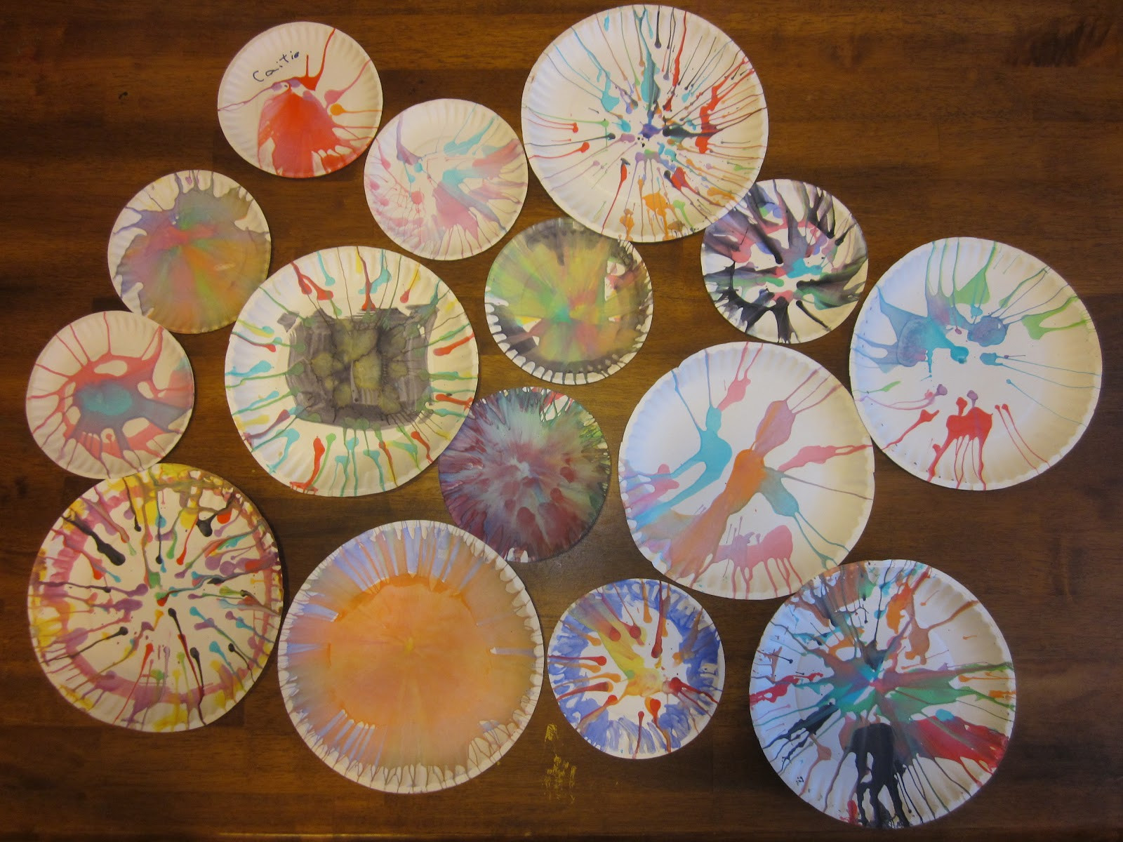 Painting Crafts For Adults  Kaleidoscope Learning Salad Spinner Art and Science