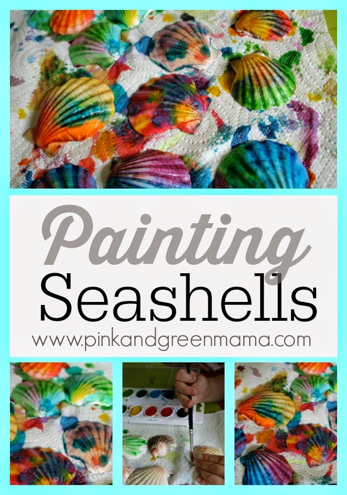 Painting Crafts For Adults  Pink and Green Mama Kid s Craft Painted Sea Shells