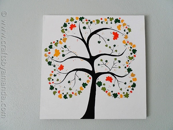 Painting Crafts For Adults  Shamrock Crafts Shamrock Tree on Canvas