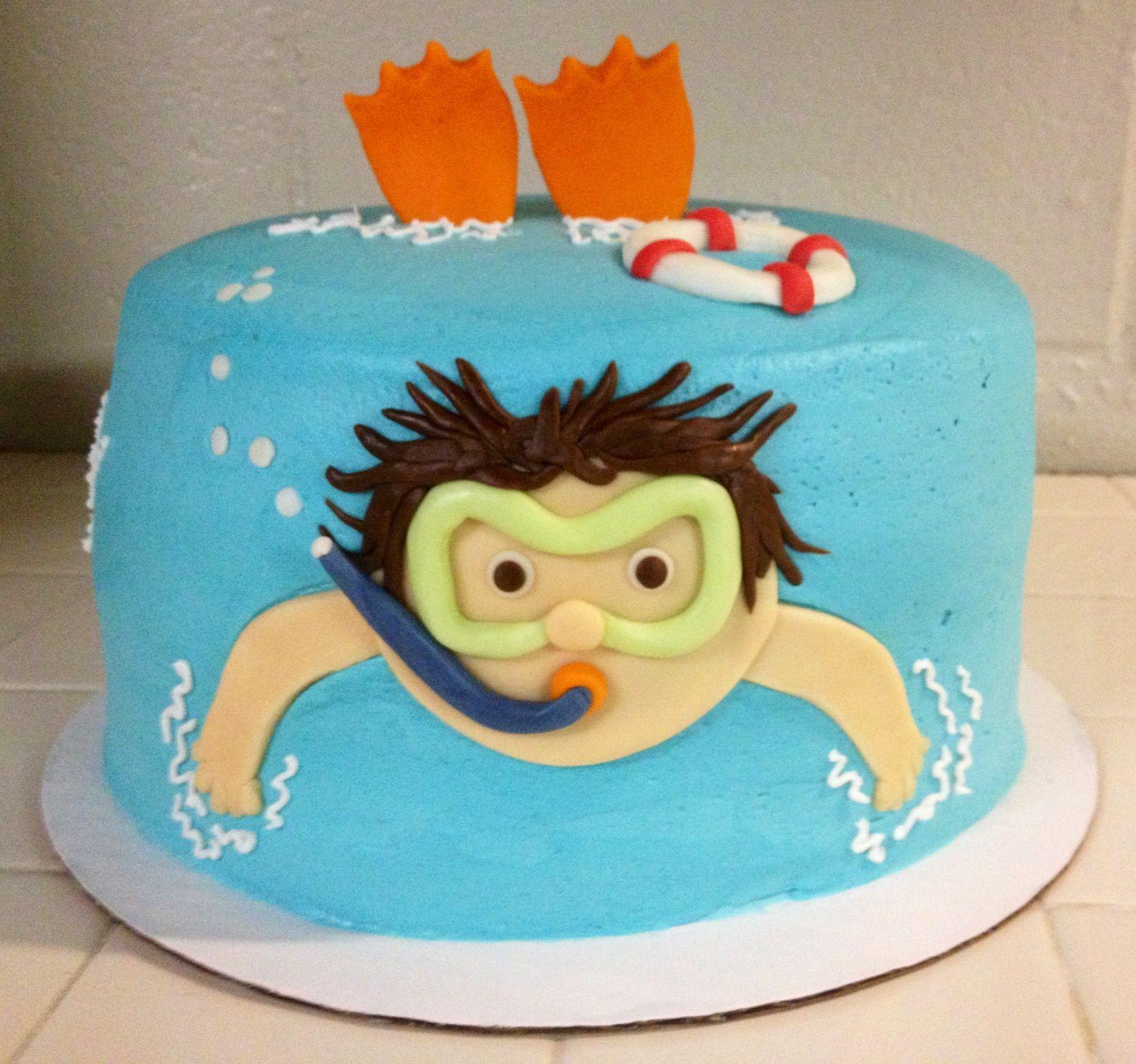 Pool Party Birthday Cakes Ideas  Pool party birthday cake Cake ideas