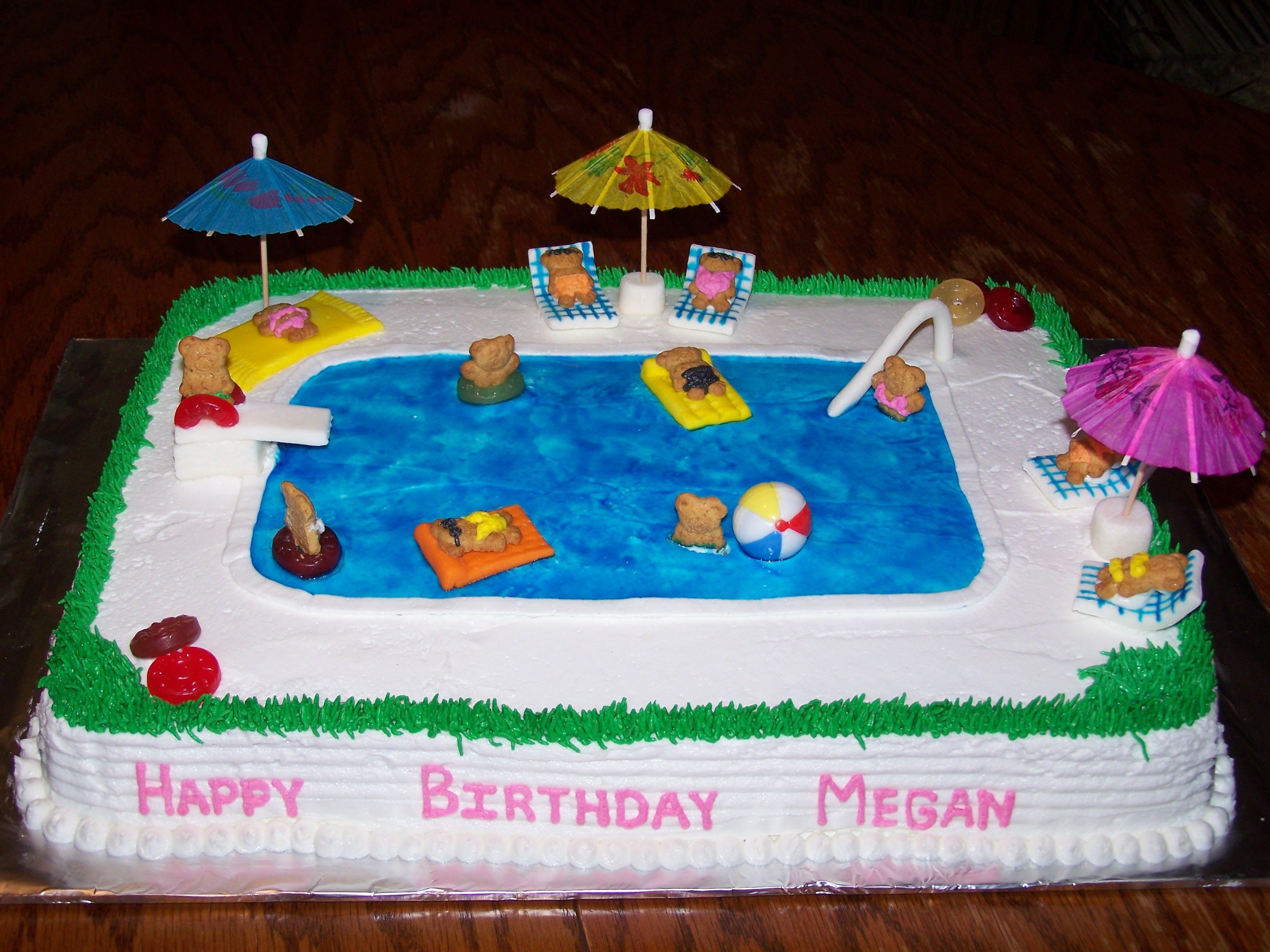 Pool Party Birthday Cakes Ideas  Swimming Pool Cake Sweet Treats by Me
