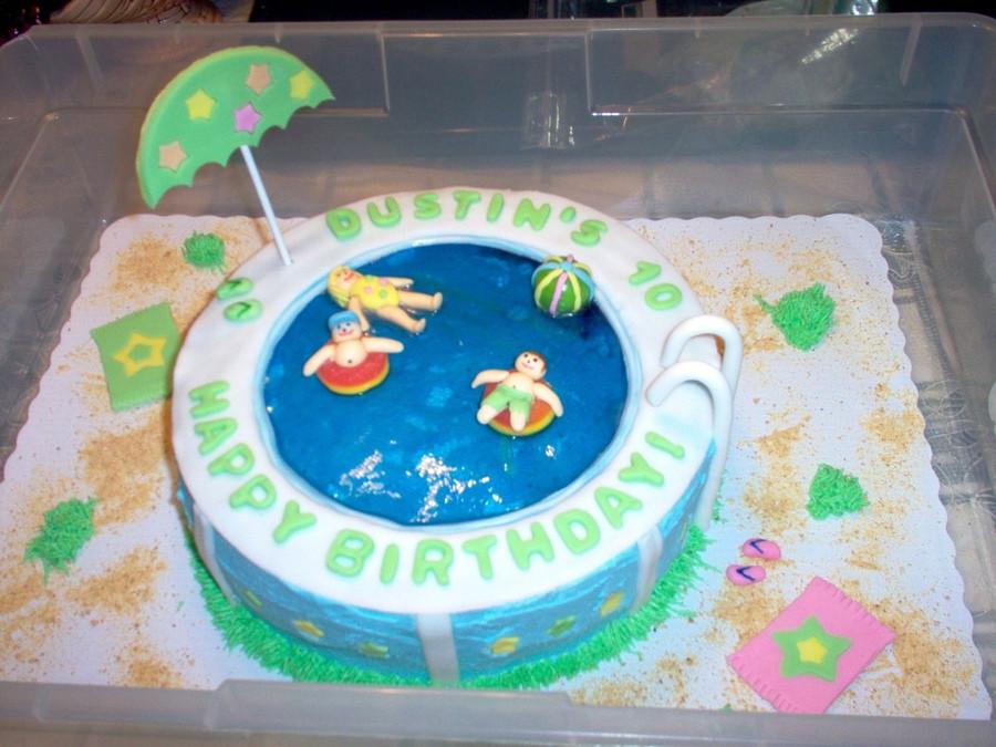 Pool Party Birthday Cakes Ideas  Swimming Pool Cake Ideas