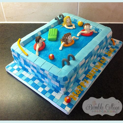 Pool Party Birthday Cakes Ideas  Bumble Cottage Cakes Gallery Childrens