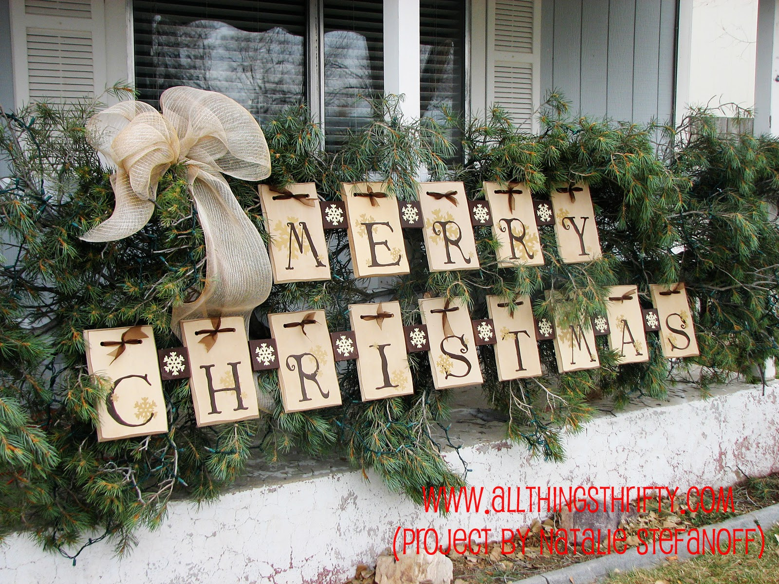 Porch Christmas Decorations  Dress up your porch for the Holidays