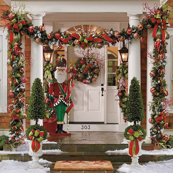 Porch Christmas Decorations  Best Outdoor Christmas Decorations for Christmas 2014