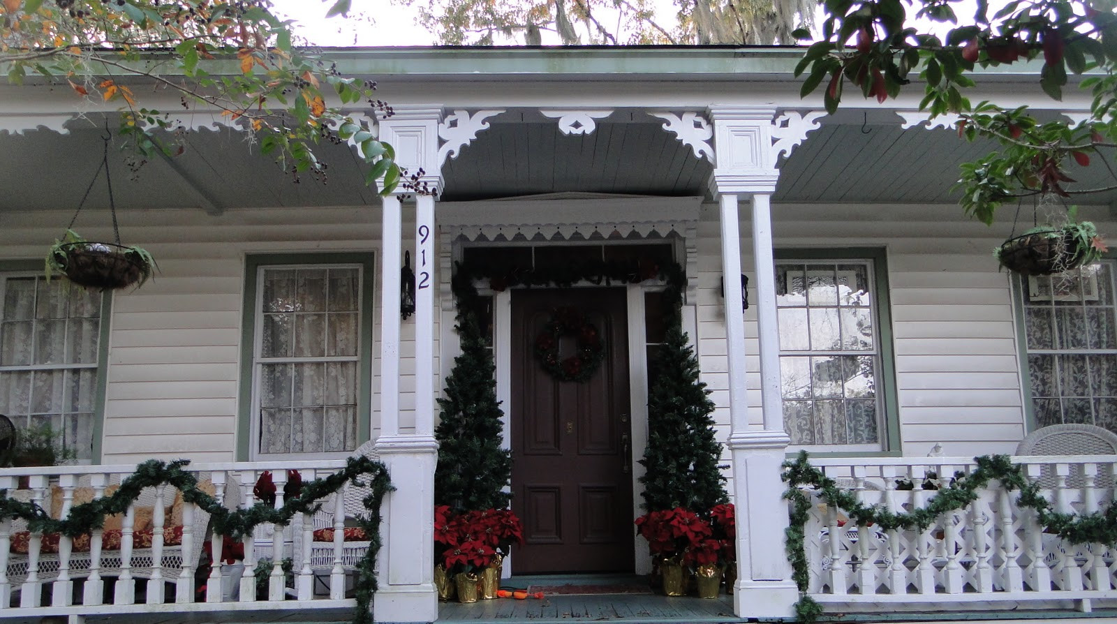 Porch Christmas Decorations  Victorian Parlor II Christmas Porch
