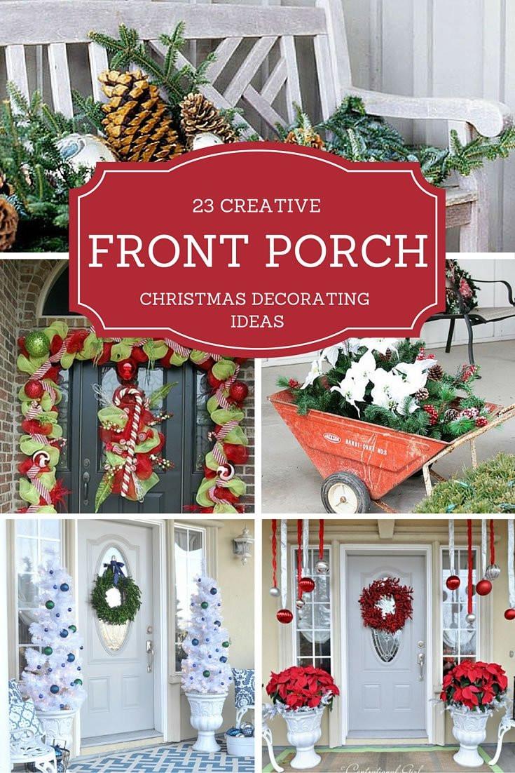 Porch Decor For Christmas  23 Creative Front Porch Christmas Decorating Ideas