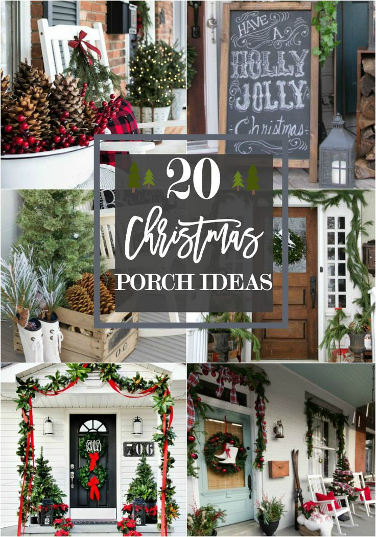 Porch Decor For Christmas  Best 25 Christmas front porches ideas on Pinterest