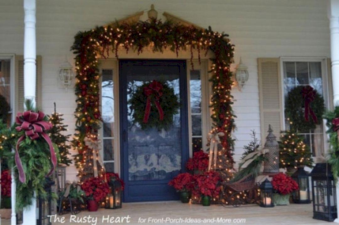 Porch Decor For Christmas  Front Porch Christmas Decorating Ideas Front Porch