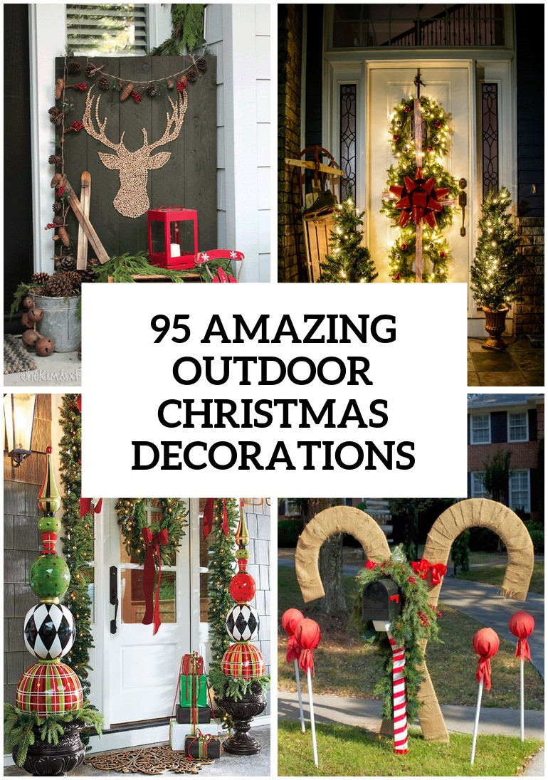 Porch Decor For Christmas  95 Amazing Outdoor Christmas Decorations DigsDigs