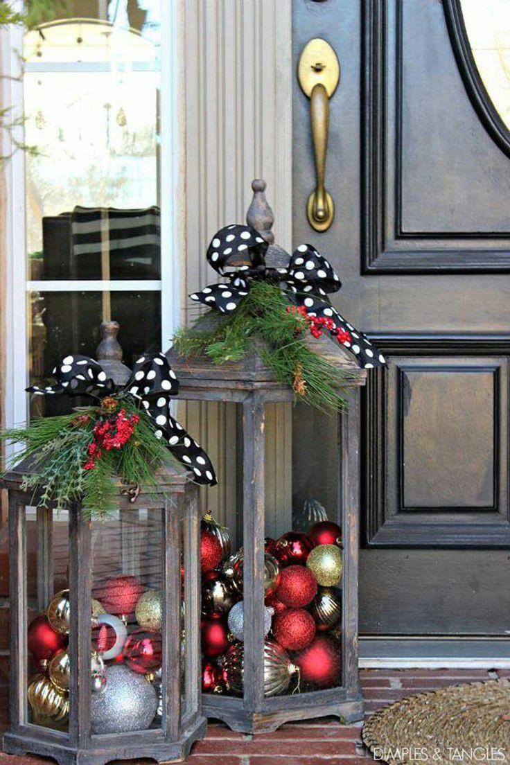 Porch Decor For Christmas  Best 25 Christmas porch decorations ideas on Pinterest