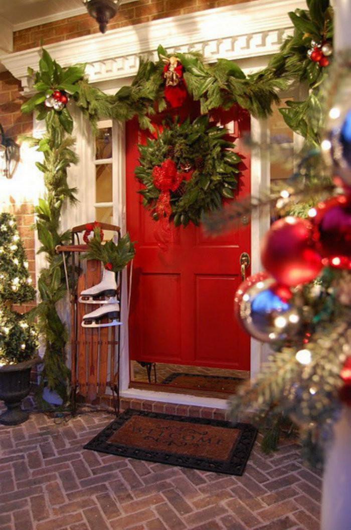 Porch Decor For Christmas  Christmas Outdoor Decoration