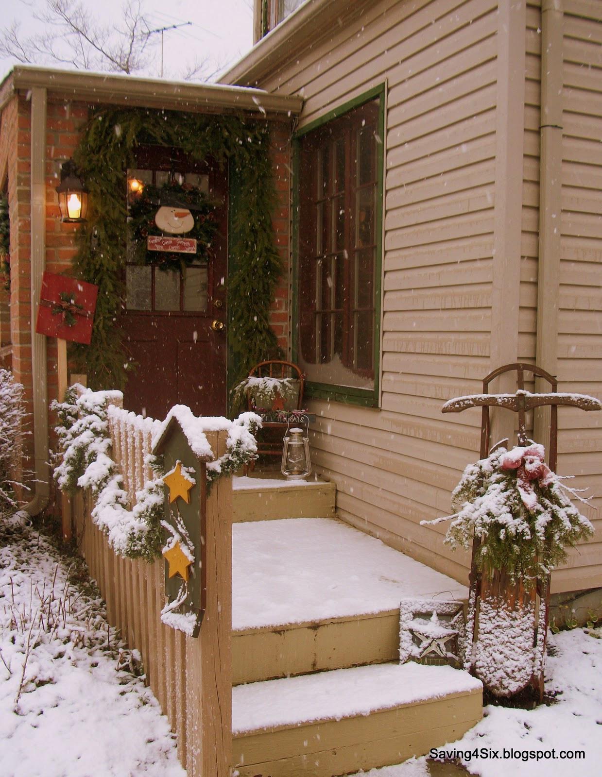 Porch Decor For Christmas  Decorating My Porch for Christmas