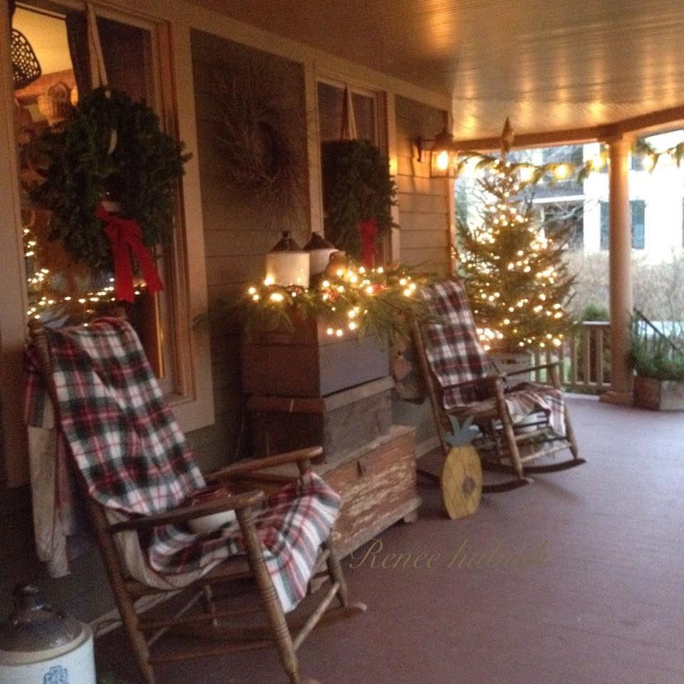 Porch Decor For Christmas  Renee Hubiak s wonderfully festive porch