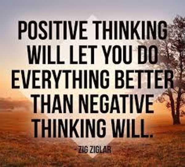 Positive Thinking Quotes Images  The Power of Positive Thinking and Attitude quotes