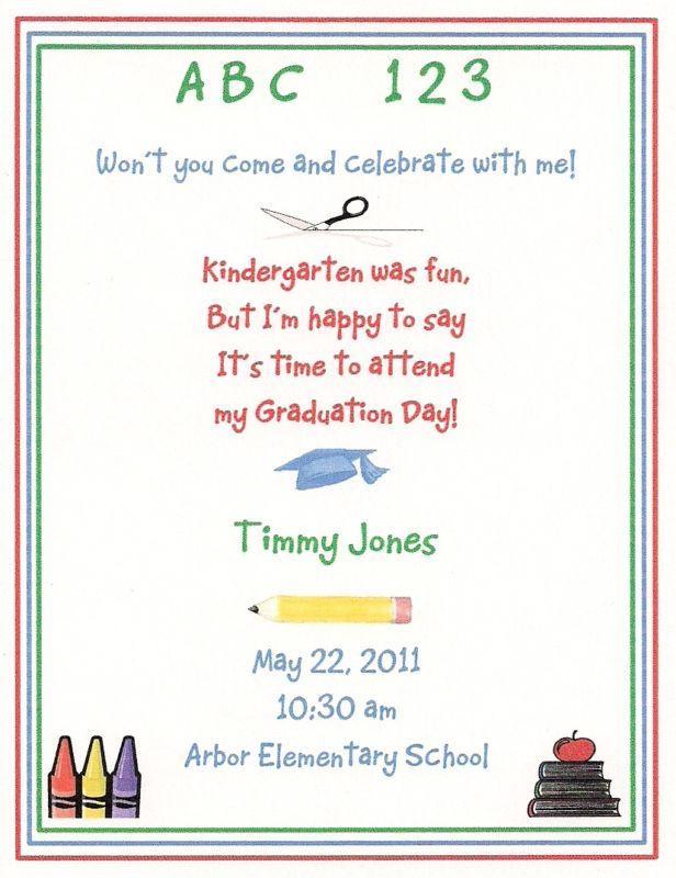 Preschool Graduation Quote  Kindergarten graduation Poems