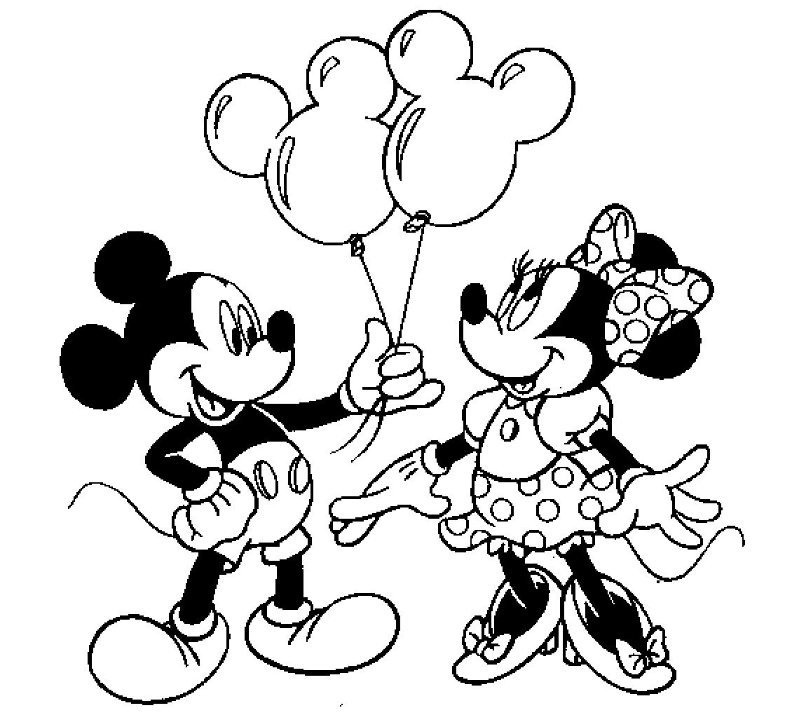 Printable Mickey Mouse Coloring Pages  Colour Drawing Free HD Wallpapers Mickey Mouse and Minnie