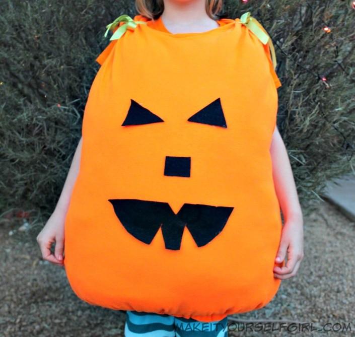 Pumpkin Costume DIY  DIY Pumpkin Costume Tutorial Make It Yourself Girl