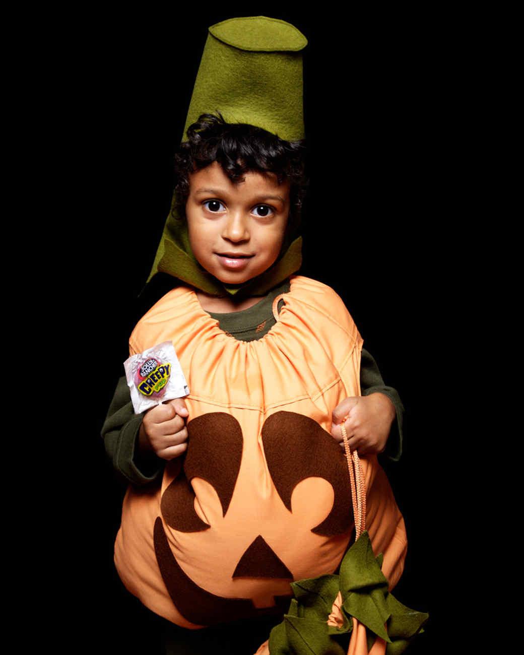 Pumpkin Costume DIY  Homemade Kids Halloween Costumes