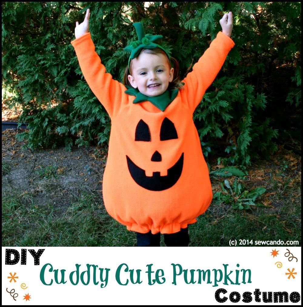 Pumpkin Costume DIY  Sew Can Do Make A Cuddly Cute Pumpkin Costume Without A