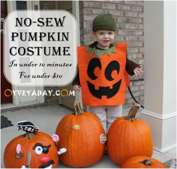 Pumpkin Costume DIY  Top 10 DIY Last Minute Halloween Costumes For Kids And