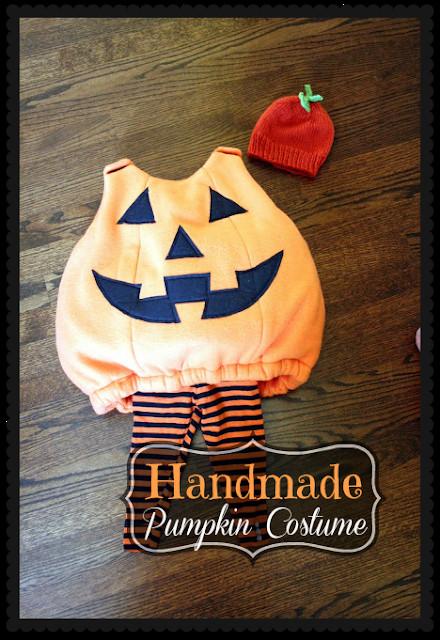 Pumpkin Costume DIY  Wicked Craft Week Handmade Kid s Pumpkin Costume with K